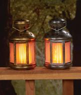 Colonial LED Lantern - Goldtone