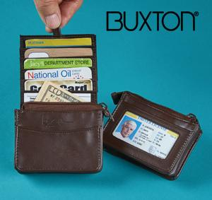 Buxton RFID Pull-Up Card Wallet