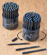 Rotating 50-Pen Set - All Black Ink