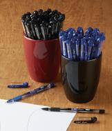Soft-Grip Ballpoint Pens - Blue