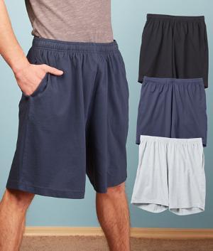 Men's Knit Lounge Shorts - Black
