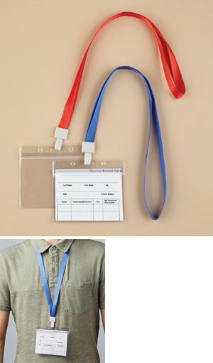 Vaccine Card Protectors and Lanyards - Set of 2