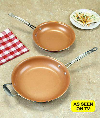 Red Copper Nonstick Fry Pan As Seen On Tv As Seen On