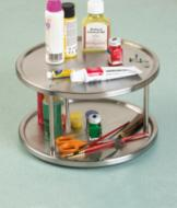 Stainless Steel Two-Tier Lazy Susan