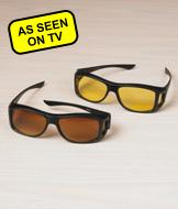 HD Night Vision Wraparound Glasses