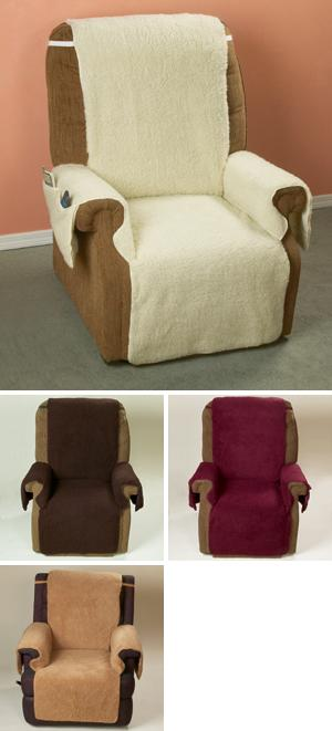 One-Piece Recliner Cover - Burgundy