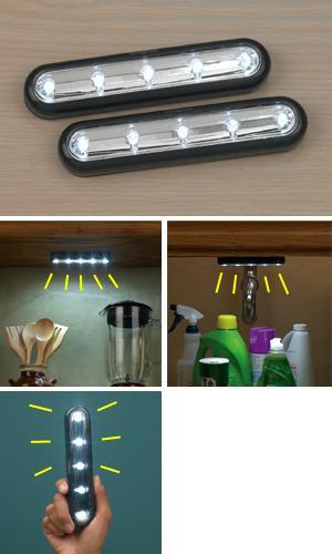 Peel-and-Stick LED Strip Lights - Set of 2