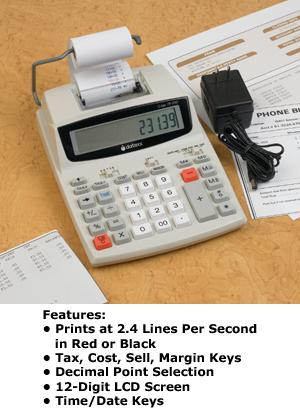 12-Digit Portable Printing Calculator