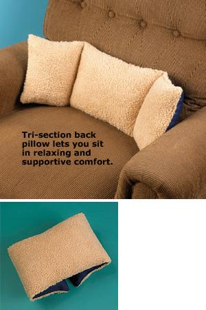 Tri-Section Back Support Pillow