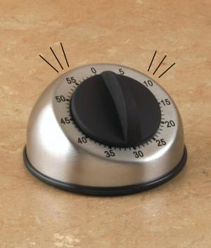 Stainless Steel 60-Minute Kitchen Timer