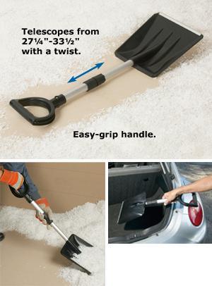 Snow Shovel with Telescoping Handle