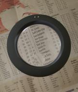 Illuminated 2X/4X Magnifier - Gray