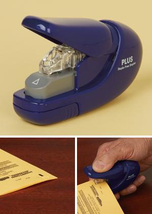 Plus Paper Clinch Staple-Free Stapler