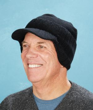Ribbed Beanie Hat with Bill