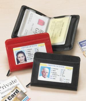 RFID Wallet with ID Window – Black