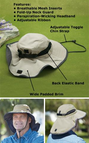 Men's Boonie Hat with Neck Guard