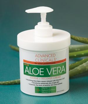 Advanced Clinicals Aloe Vera Cream - 16-oz.