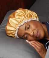 Satin Sleep Cap - White