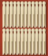 Vintage-Style Clothes Pegs - Set of 24