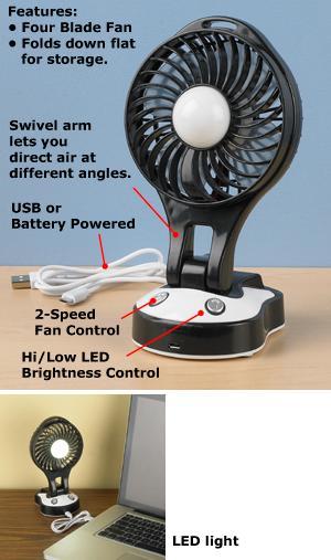LED Folding Desk Fan