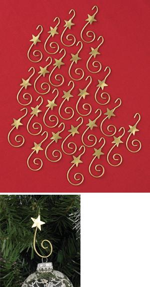 Goldtone Ornament Hooks - Set of 24