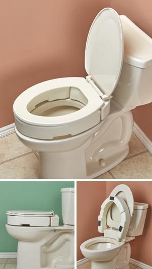 Hinged Toilet Seat Riser - Standard