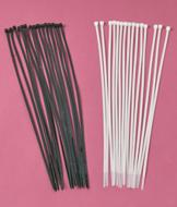 Long Black Cable Ties - 15-Pack