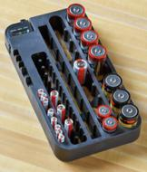 Battery Organizer with Power Tester