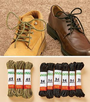 34 Black Shoelaces - 6-Pairs