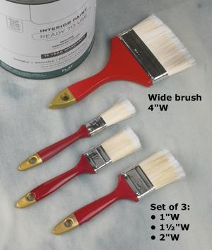 Deluxe Paintbrush Set - 3-Pcs.