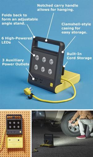 Quirky Powershell Folding Work Light