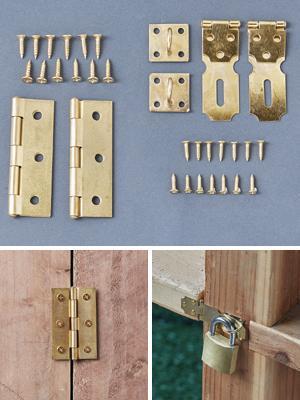 Brass Hinge Set - 2-Pack