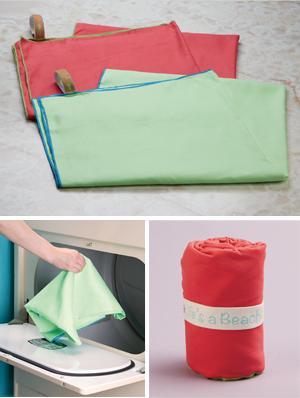 Microfiber Beach Towel - Lime Green