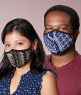 Reusable Face Mask - Small (Navy/White)