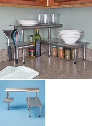 Kitchen Corner Shelf Trio
