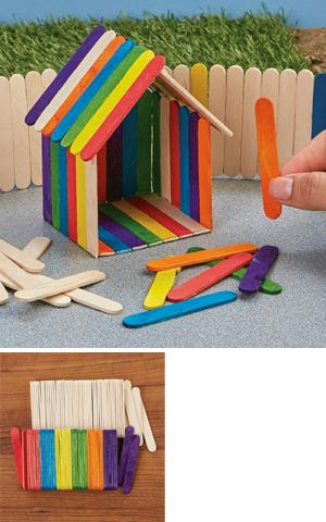 Mini Wood Craft Sticks - 100-Pc. Set