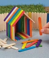 Mini Wood Craft Sticks - 100-Pc. Set