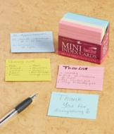 200 Assorted Color Mini Index Cards