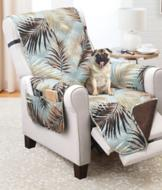 Recliner Protector - French Damask/Taupe