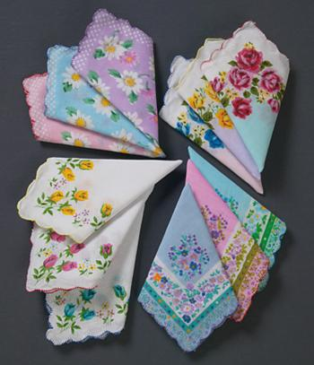 Floral Handkerchiefs - Set of 12