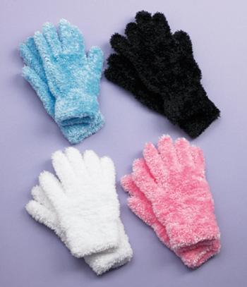 Fuzzy Stretch Gloves - Set of 4