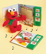 Elmo Plush and Play-a-Sound Christmas Book