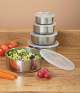 Stainless Steel Bowls - 10-Pc. Set