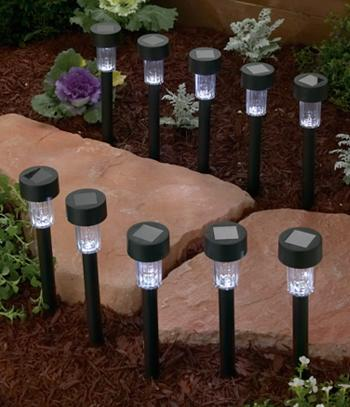 Solar Landscape Lights - Set of 10