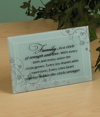Family is a Circle Plaque
