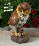 Motion-Activated Hooting Owl