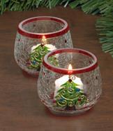 Christmas Tree Candleholders - Set of 2