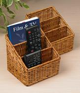 Wicker Remote Holder