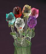 Exquisite Glass Roses - Set of 6