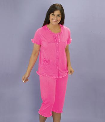 Pink Capri-Pant Pajama Set